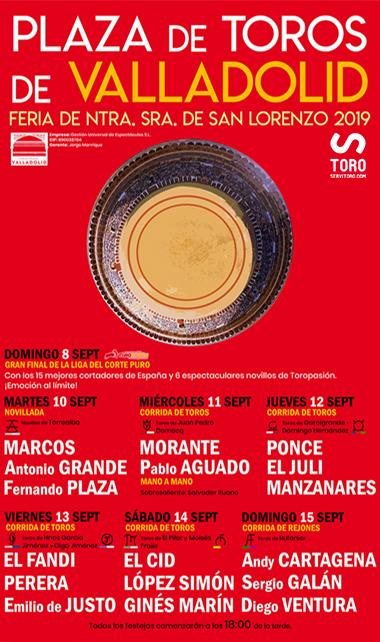 toros Valladolid 2019